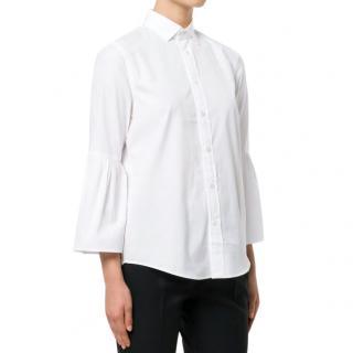 Polo Ralph Lauren White Bell Sleeve Shirt