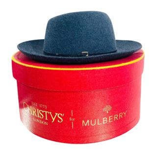Christies for Mulberry Grey Wool Felt Boater Hat