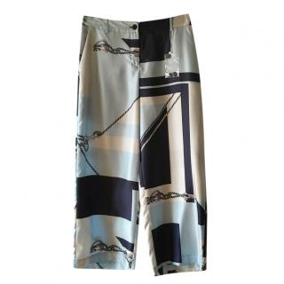Max Mara Wide Leg Silk Pants