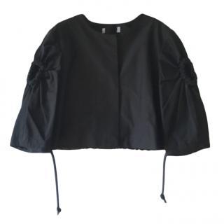 Sportmax Black Drawstring Cape Jacket