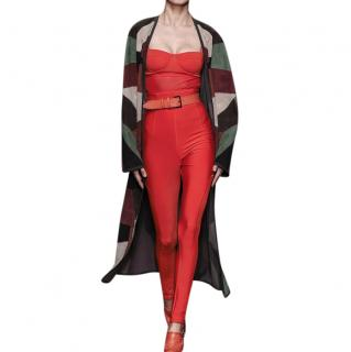 Max Mara Red High Waist Leggings