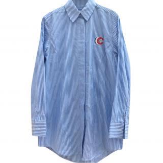 Etre Cecile Blue Striped Oversized Shirt