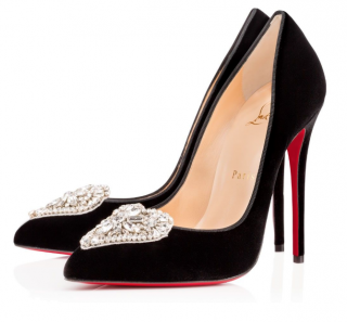 Christian Louboutin Cristacora 120 mm velvet pumps