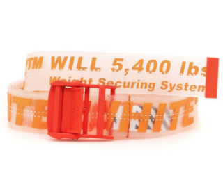 Off White C/O Virgil Abloh Industrial Orange Rubber Belt