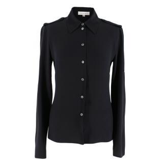 Celine Black Silk Blouse