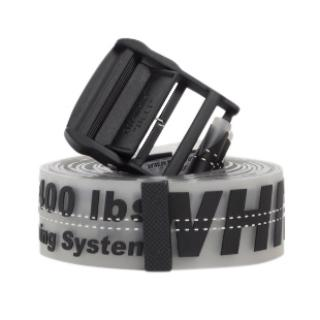Off White C/O Virgil Abloh Industrial Black Rubber Belt
