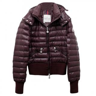 Moncler Burgundy Down Jacket