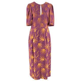 Dries Van Noten Raspberry Sequin Embroidered Dress