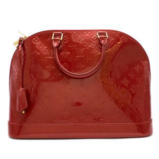Louis Vuitton Pomme D�Amour Monogram Vernis Alma GM Bag