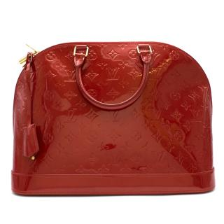 Louis Vuitton Pomme D�Amour Monogram Vernis Alma GM Bag