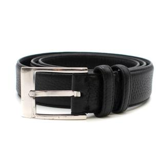 Caruso Black Grained Leather Belt
