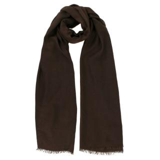 Loro Piana Brown Silk Blend Scarf