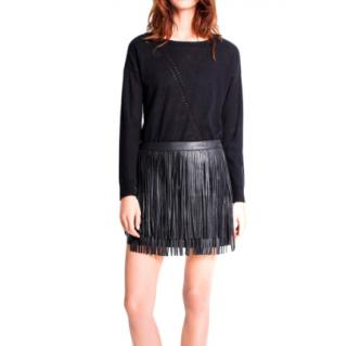 Zadig & Voltaire Jaliz Deluxe Leather Mini Skirt