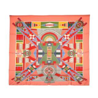 Hermes l'art indien des plaines silk scarf 90