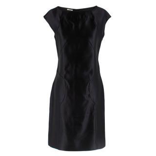 Miu Miu Black Sleeveless Silk Dress