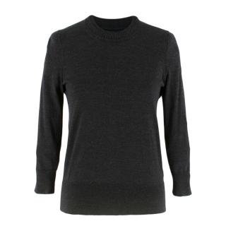 Isabel Marant Dark Grey Knit Merino Wool Jumper