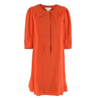 Chloe Orange Silk Dress