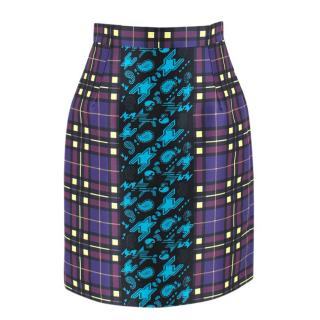 Mary Katrantzou Elpida Printed Satin-Twill Skirt