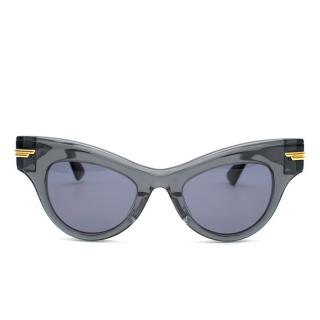 Bottega Veneta Black Cat-Eye Sunglasses