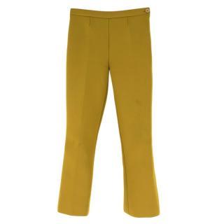 Prada Gold Kickflare Crop Trousers