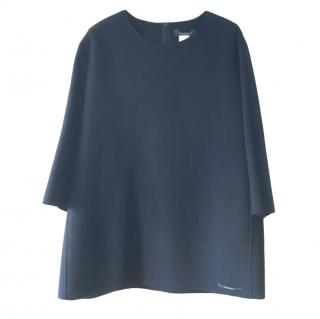 Max Mara Blue Angora Wool Blend Tunic