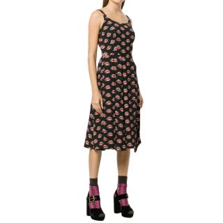 Prada Lips Print Dress