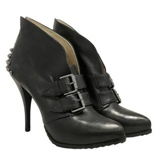 McQ by Alexander McQueen Black Studded Booties