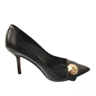 Louis Vuitton Black Embellished Pointed Toe Pumps