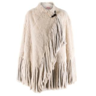 Matthew Williamson Fringe Trim Fur Poncho