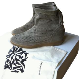 Isabel Marant Basley Flat Fringed Boots