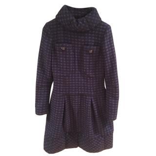 Chanel Blue Tweed Wool Blend Dress