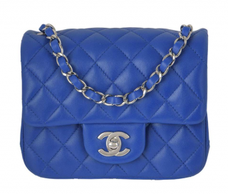 Chanel Blue Quilted Leather Mini Classic Flap