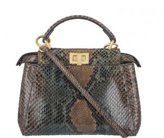 Fendi Mini Peekaboo Python Bag