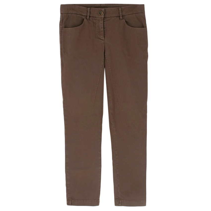 Brunello Cucinelli Brown Straight Leg Trousers