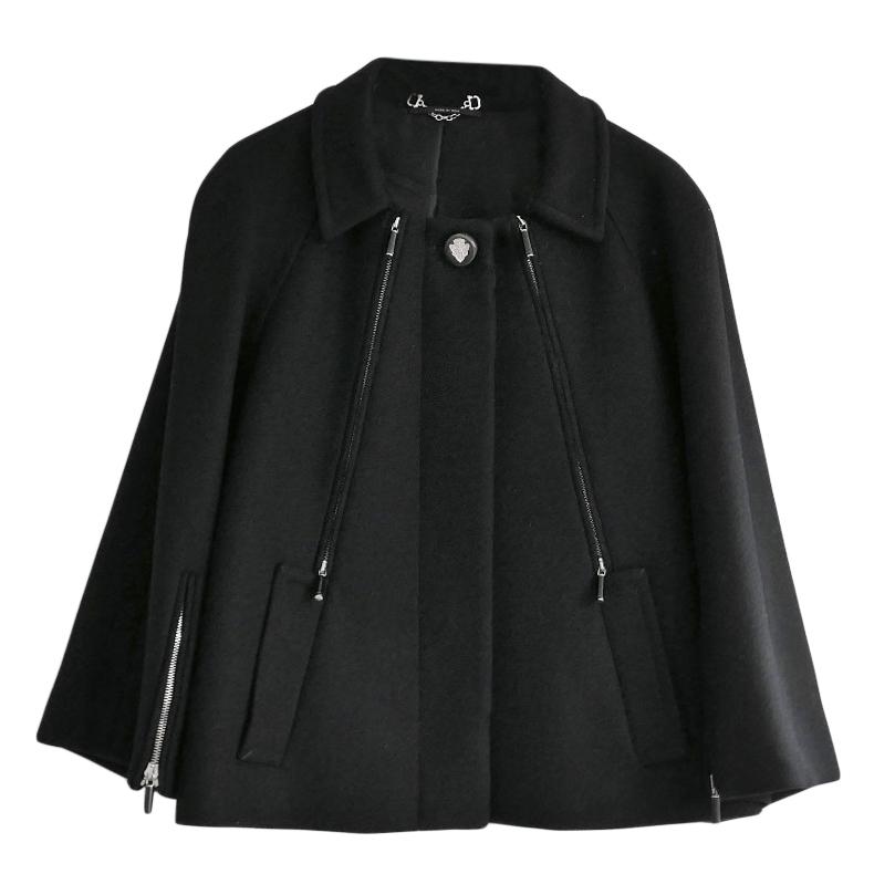Gucci Black Wool Pea Jacket