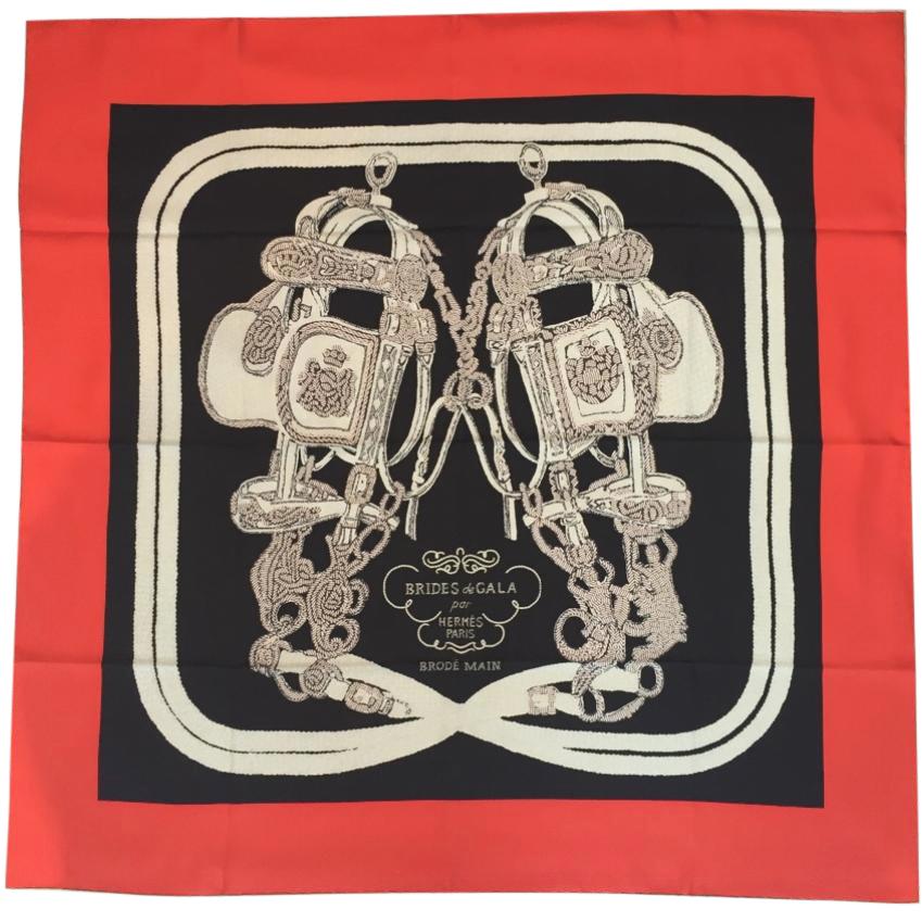Hermes Brides De Gala Brode Silk Scarf 90