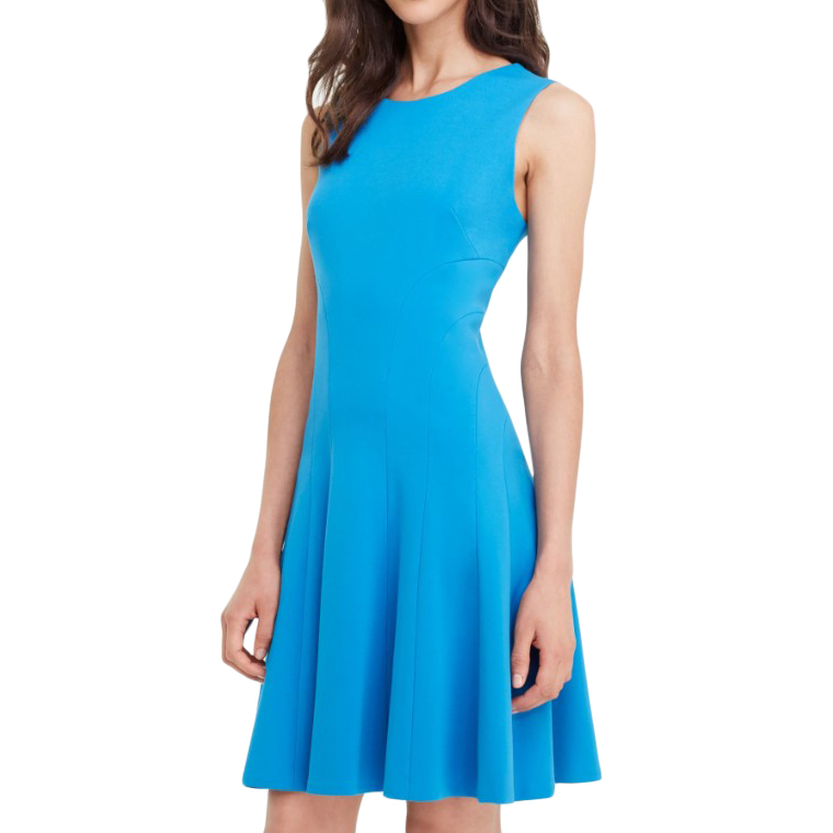 Diane Von Furstenberg Blue Ponte Jersey Swing Dress
