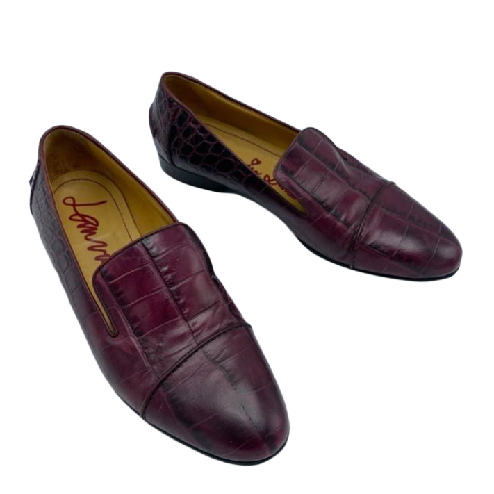 Lanvin Burgundy Alligator leather shoes