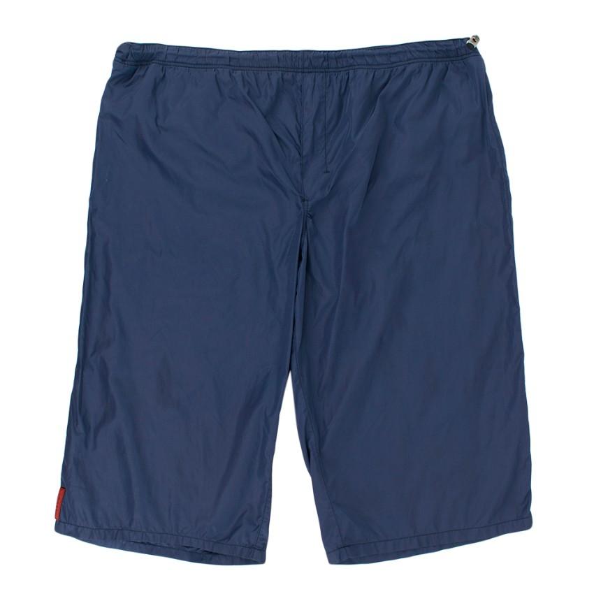 Prada Navy Nylon Swim Shorts