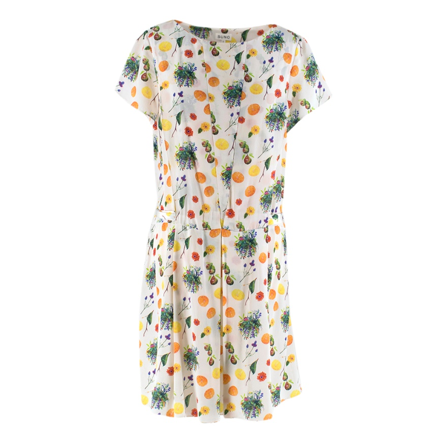 SUNO Multicolour Box Pleat Dress