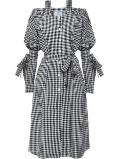 Prada gingham chemisier dress