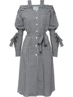 Prada gingham chemisier dress