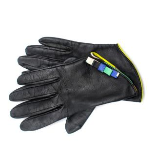 Emilio Pucci Black Leather Gloves