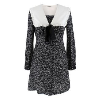 Miu Miu Printed Silk Mini Dress