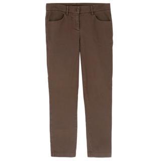 Brunello Cucinelli Brown Straight Leg Trousers