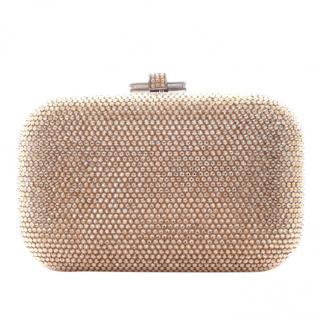 Justin Leiber gold crystal clutch bag