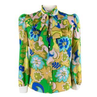 Edeltrud Hofmann Dia Floral-Print Silk Blouse