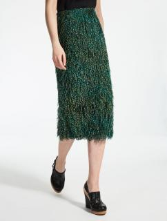 MaxMara midi skirt with faux feathers