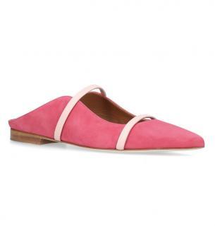 Malone Soulier Classic Flat Mule Pink
