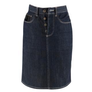 Le Kilt Indigo Denim Skirt
